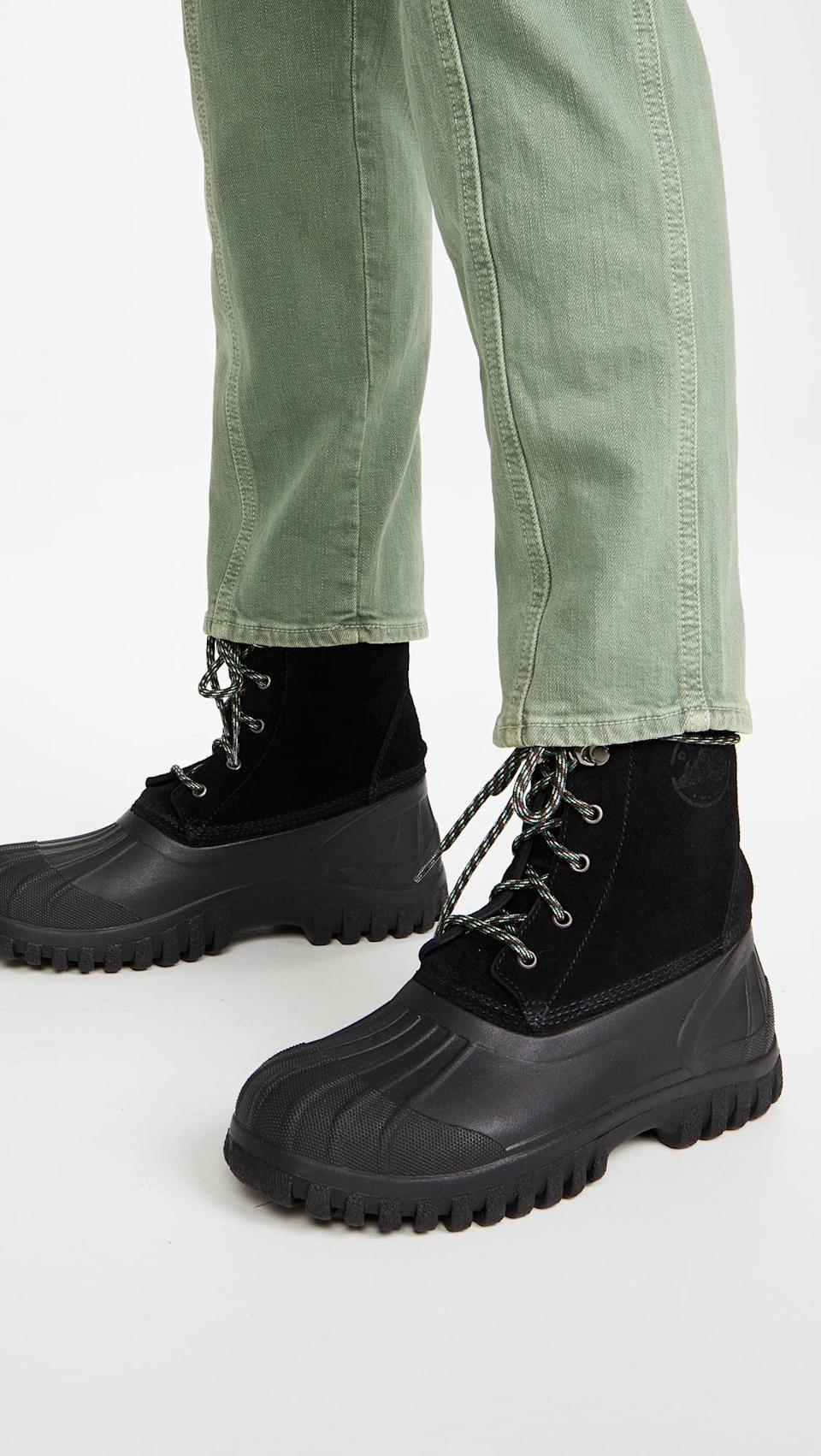 <p>These <span>Diemme Anatra Lace Up Shearling Boots</span> ($399) will be staples in your closet.</p>