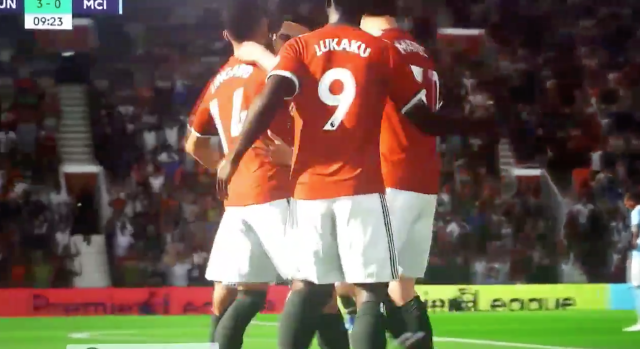 Lingard was shown congratulating team-mates in one clip.