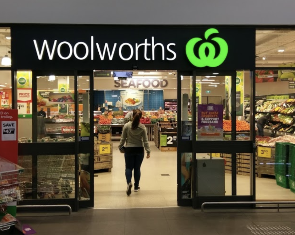 Woolworths has rolled out the trial at 10 stores to assess its effectiveness in boosting social distancing adherence. Source: Google Maps