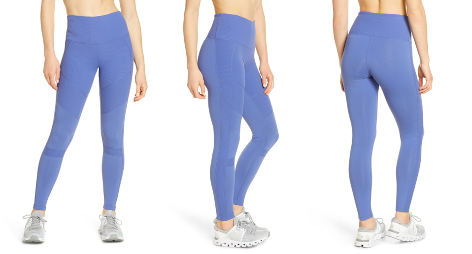 These Zella Moto Leggings are 40% off, and have received the Nordstrom shopper seal of approval. Images via Nordstrom.