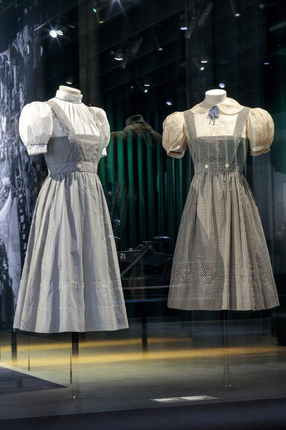 <p>Her blue dresses are on display, too. </p>