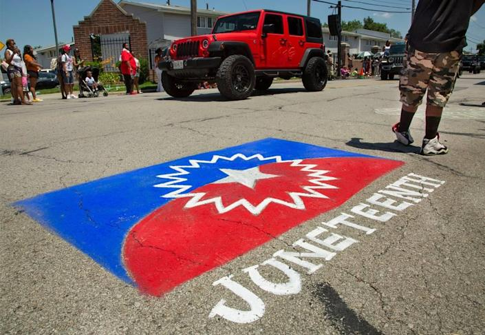 """The Juneteenth Heritage Festival will be June 19 at The Great Lawn, 1600 John """"Buck"""" O'Neil Way. The JuneteenthKC Cultural Parade was June 12."""