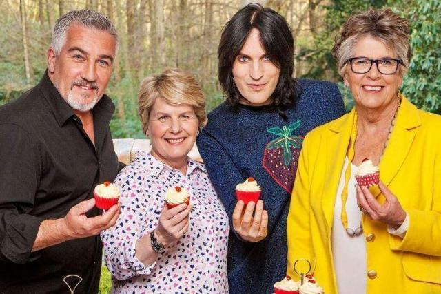 Puns and buns: Paul Hollywood, Sandi Toksvig, Noel Fielding and Prue Leith (Channel 4)