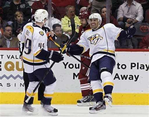 Predators top Coyotes 5-4 in shootout
