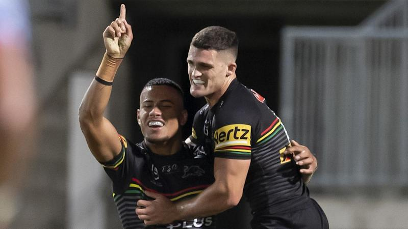 Penrith have produced a late comeback to beat St George Illawarra 32-28 in a 10-try NRL thriller