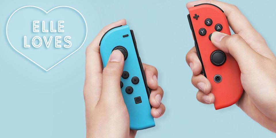 """<p><strong>Nintendo</strong></p><p>amazon.com</p><p><strong>$459.95</strong></p><p><a href=""""https://www.amazon.com/dp/B01MUAGZ49?tag=syn-yahoo-20&ascsubtag=%5Bartid%7C10051.g.33078428%5Bsrc%7Cyahoo-us"""" rel=""""nofollow noopener"""" target=""""_blank"""" data-ylk=""""slk:Shop Now"""" class=""""link rapid-noclick-resp"""">Shop Now</a></p><p>""""I had <em>heard</em> about <a href=""""https://www.elle.com/culture/a25239394/nintendo-switch-review/"""" rel=""""nofollow noopener"""" target=""""_blank"""" data-ylk=""""slk:the Nintendo Switch"""" class=""""link rapid-noclick-resp"""">the Nintendo Switch</a>—how it could be played as a handheld or on your TV screen and had some great games (like <a href=""""https://www.amazon.com/Super-Mario-Odyssey-Nintendo-Switch/dp/B01MY7GHKJ?linkCode=ogi&tag=elle_auto-append-20&ascsubtag=[artid