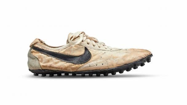 PHOTO: Shown in this undated photo is the Nike Waffle Racing Flat, Moon Shoe in a size 12.5 from 1972. (Courtesy Sotheby's )