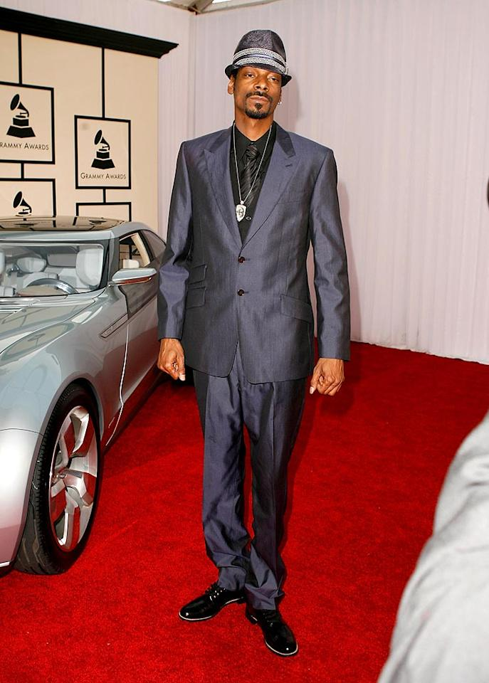 """Snoop Dogg got all gussied up for the Grammys. Jeff Vespa/<a href=""""http://www.wireimage.com"""" target=""""new"""">WireImage.com</a> - February 10, 2008"""