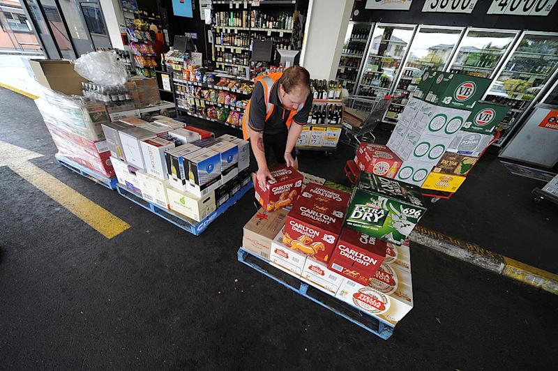 Bottle shops will remain open, for the good of the nation. Source: Getty