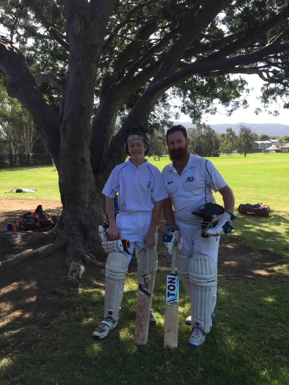 The mum didn't know her kids started cricket and her husband had grown a beard. Photo: Supplied