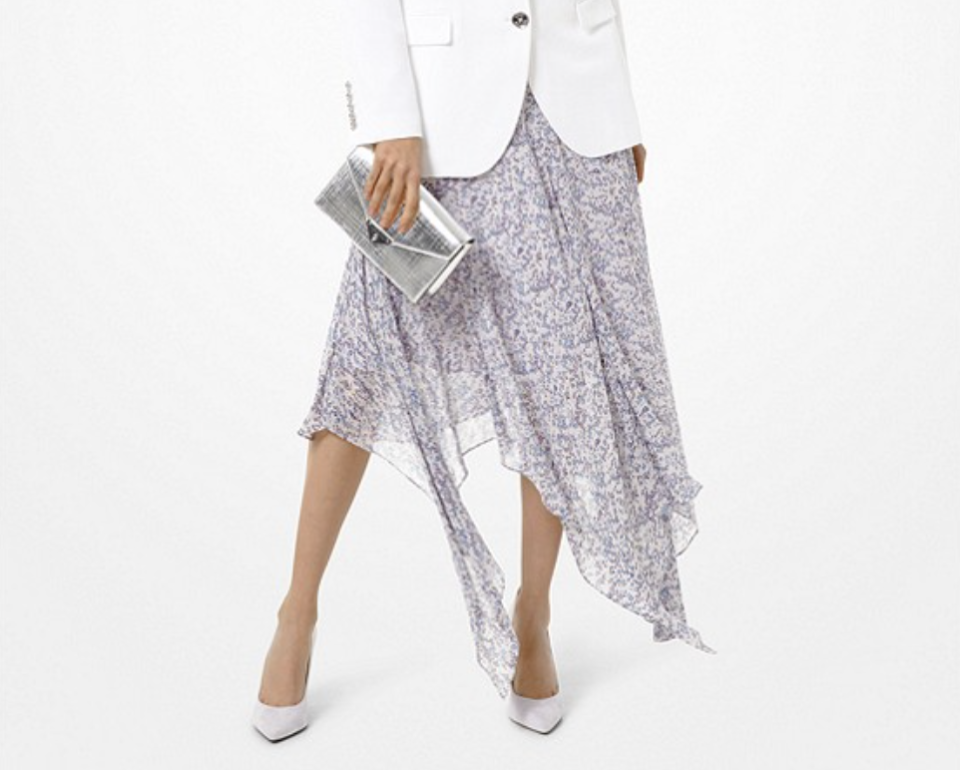 Floral Georgette Handkerchief Skirt. (PHOTO: Michael Kors)