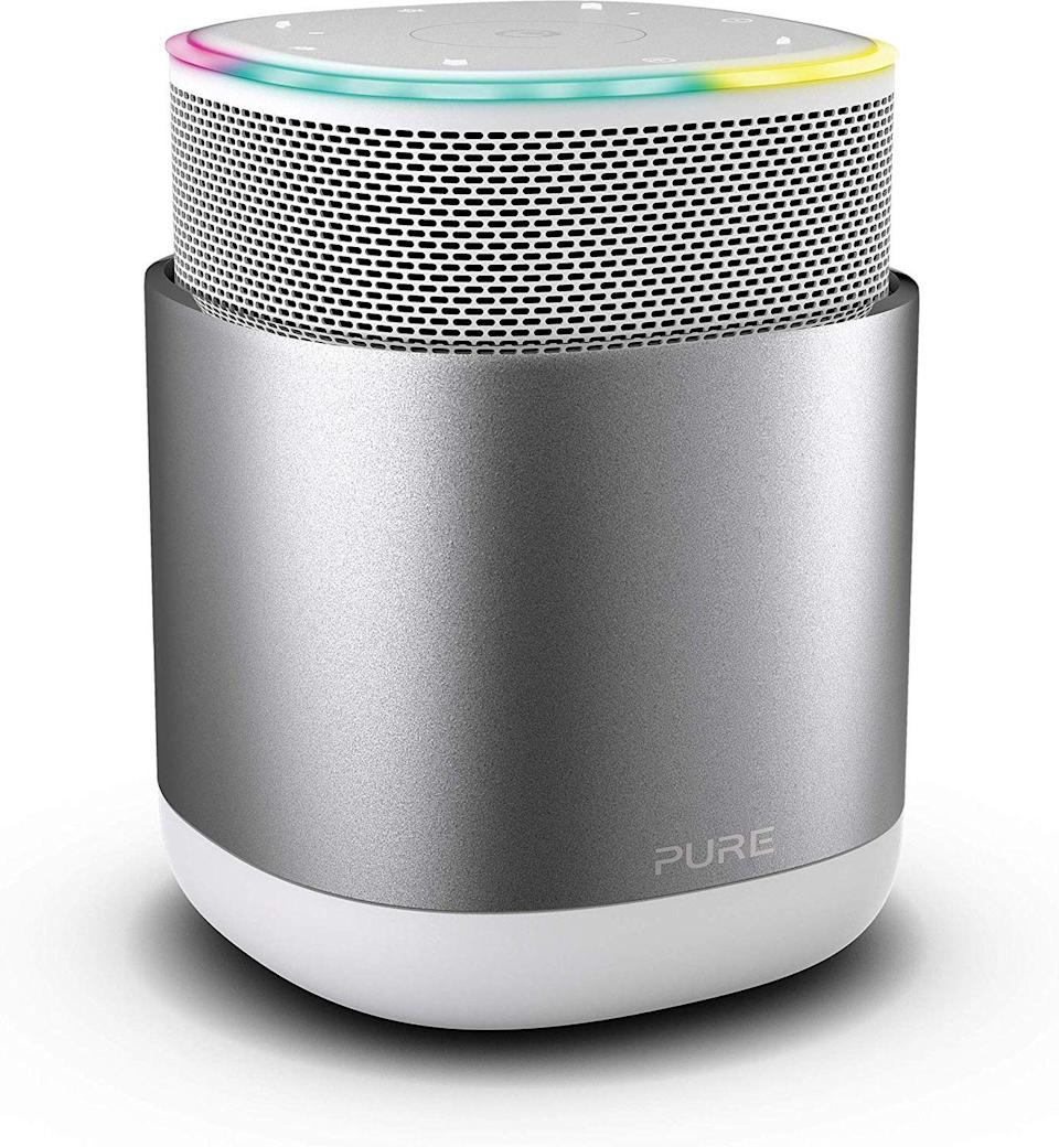 """<p><a class=""""link rapid-noclick-resp"""" href=""""https://www.amazon.co.uk/Pure-Discover-Bluetooth-Wireless-Portable/dp/B07JWNY5TW?tag=hearstuk-yahoo-21&ascsubtag=%5Bartid%7C1923.g.22798845%5Bsrc%7Cyahoo-uk"""" rel=""""nofollow noopener"""" target=""""_blank"""" data-ylk=""""slk:SHOP"""">SHOP</a></p><p>There are absolutely loads of Bluetooth speakers out there, and most of them are hooked up to Alexa, Siri or Google Assistant. This one's concerned with your privacy though – when you turn it off, by pressing the central speaker bit down into the body of the speaker, it physically disconnects the microphone so Jeff Bezos definitely can't hear you. Plus, it's small but mighty, and its kicky 45-watt speaker really fills a room.</p><p>Amazon, £229</p>"""