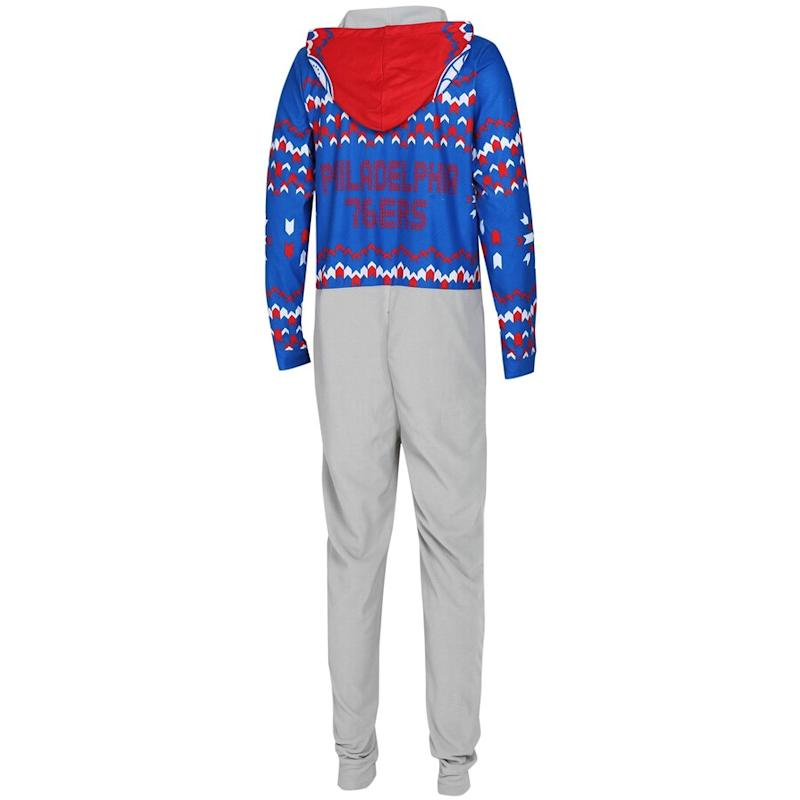 76ers Ugly Sweater Fleece Suit