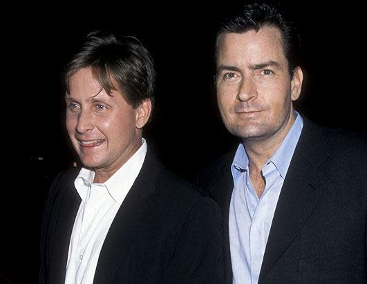"""While Charlie Sheen continues to make headlines his brother, Emilio Estevez, has been off the radar. Emilio Estevez, pictured left, starred in such cult classics as """"The Breakfast Club,"""" """"St. Elmo's Fire"""" and """"The Mighty Ducks."""" Unlike Estevez, Sheen traded his birth name, Carlos Irwin Estevez, for the stage name Sheen, following in the footsteps of his famous father, Martin Sheen."""
