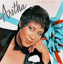 """<p>Masculine meets feminine. Aretha Franklin sports a stylish pixie and tons of rouge for the cover of her record """"Jump To It."""" (Photo by Harry Langdon/Getty Images) </p>"""