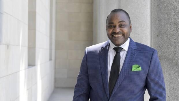 Ben Marc Diendéré, 50, is the 11th person to be appointed chair of the Conseil des arts de Montréal, and the first Black person to hold that role.  (Normand Huberdeau/Conseil des arts de Montréal - image credit)