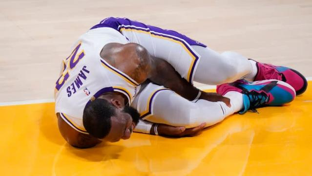 LeBron James Out for Lakers After Suffering High Ankle Sprain