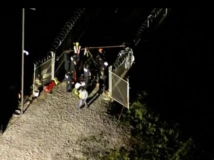 Two workers have died after an explosion trapped them in a dam shaft in Oklahoma.  (SkyNews6)