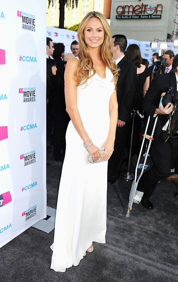 Stacy Keibler at the 17th Annual Critics' Choice Awards in Hollywood on January 12, 2012.