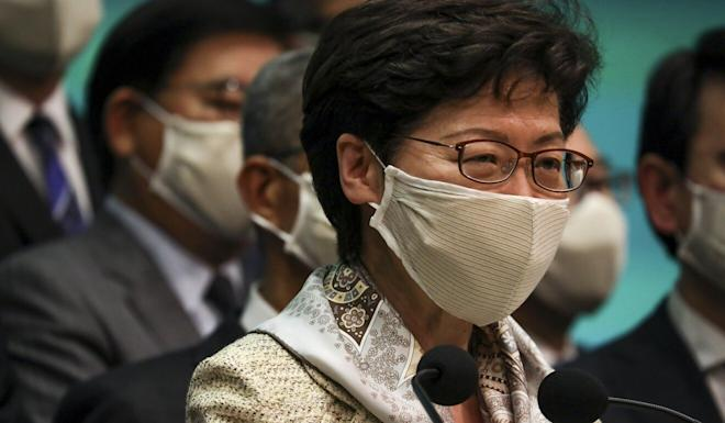 Carrie Lam was praised for her handling of the coronavirus epidemic. Photo: Xiaomei Chen