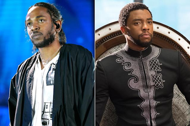 Kendrick Lamar, left, and Chadwick Boseman (Photos: Entertainment Weekly)