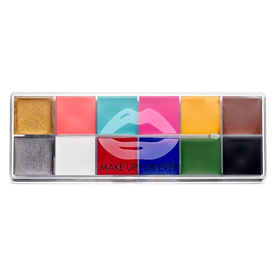 """<p><strong>MAKE UP FOR EVER</strong></p><p>sephora.com</p><p><strong>$99.00</strong></p><p><a href=""""https://go.redirectingat.com?id=74968X1596630&url=https%3A%2F%2Fwww.sephora.com%2Fproduct%2Fflash-color-palette-multi-use-cream-color-palette-P219411&sref=https%3A%2F%2Fwww.elle.com%2Fbeauty%2Fmakeup-skin-care%2Fg34161924%2Fbest-halloween-makeup-kits%2F"""" rel=""""nofollow noopener"""" target=""""_blank"""" data-ylk=""""slk:Shop Now"""" class=""""link rapid-noclick-resp"""">Shop Now</a></p><p>Although this highly-pigmented cream color palette is ideal for Halloween, makeup enthusiasts use it all year as lipstick, cheek color, liner, and more.</p>"""