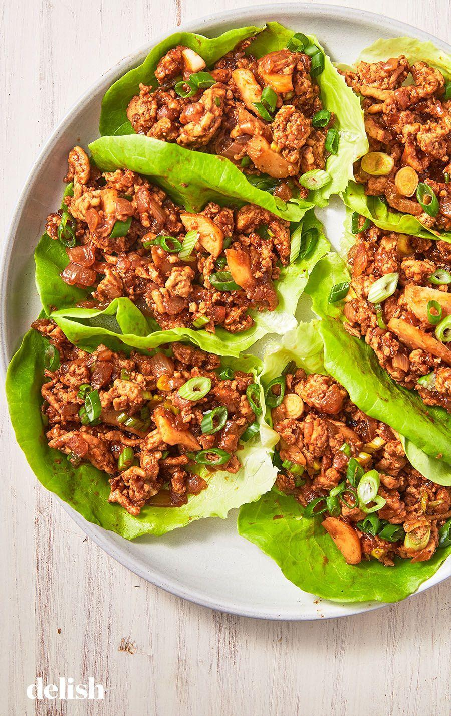 """<p>Inspired by the staple appetizer at P.F. Chang's restaurant.</p><p>Get the recipe from <a href=""""https://www.delish.com/cooking/recipe-ideas/recipes/a49533/asian-lettuce-wraps-recipe/"""" rel=""""nofollow noopener"""" target=""""_blank"""" data-ylk=""""slk:Delish"""" class=""""link rapid-noclick-resp"""">Delish</a>.</p>"""