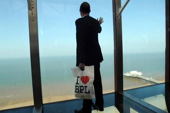 Eyes front! Blackpool Tower reopens with glass floors after multi-million pound revamp