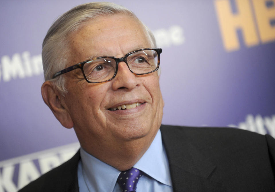 The NBA will reportedly honor David Stern's memory on players' uniforms. (Dennis Van Tine via AP)