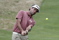 Bubba Watson hits to green on the fifth hole during round-robin play at the Dell Technologies Match Play Championship golf tournament, Friday, March 29, 2019, in Austin, Texas. (AP Photo/Eric Gay)