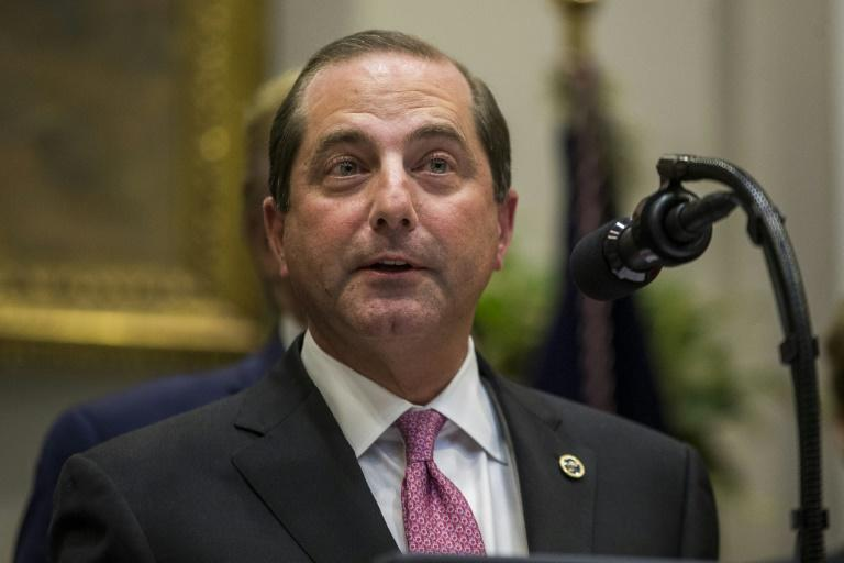 US Secretary of Health and Human Services Alex Azar unveiled the health care transparency initiative at the White House