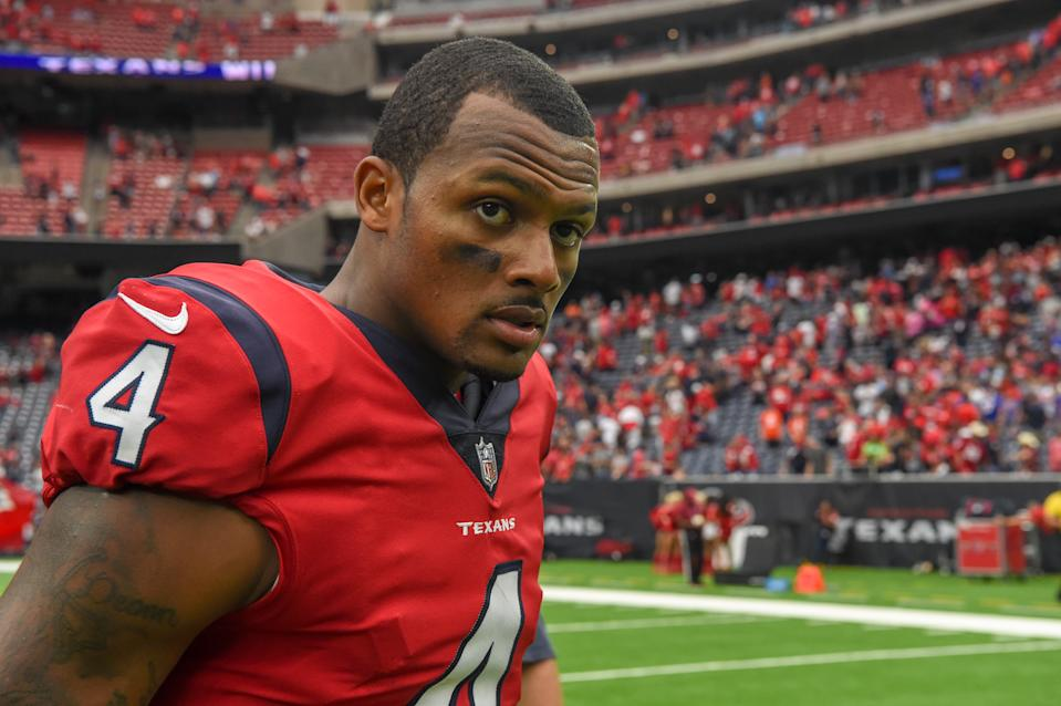 Fourteen separate lawsuits have been filed against Deshaun Watson by massage therapists from three different states, with allegations that range from crude to cruel. (Photo by Ken Murray/Icon Sportswire via Getty Images)