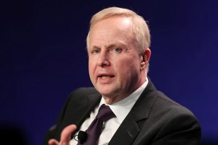 FILE PHOTO: Bob Dudley, Group Chief Executive, BP, speaks at the 2019 Milken Institute Global Conference in Beverly Hills