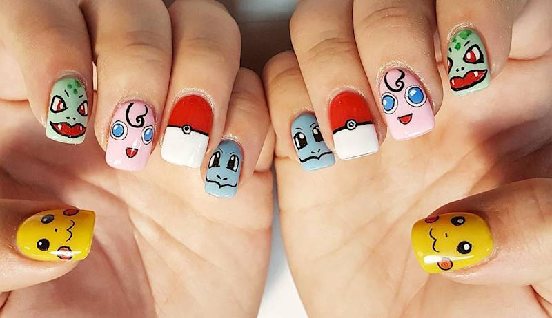 Addicted To Pokémon Go? Then You'll Love This Nail Art! - To Pokémon Go? Then You'll Love This Nail Art!