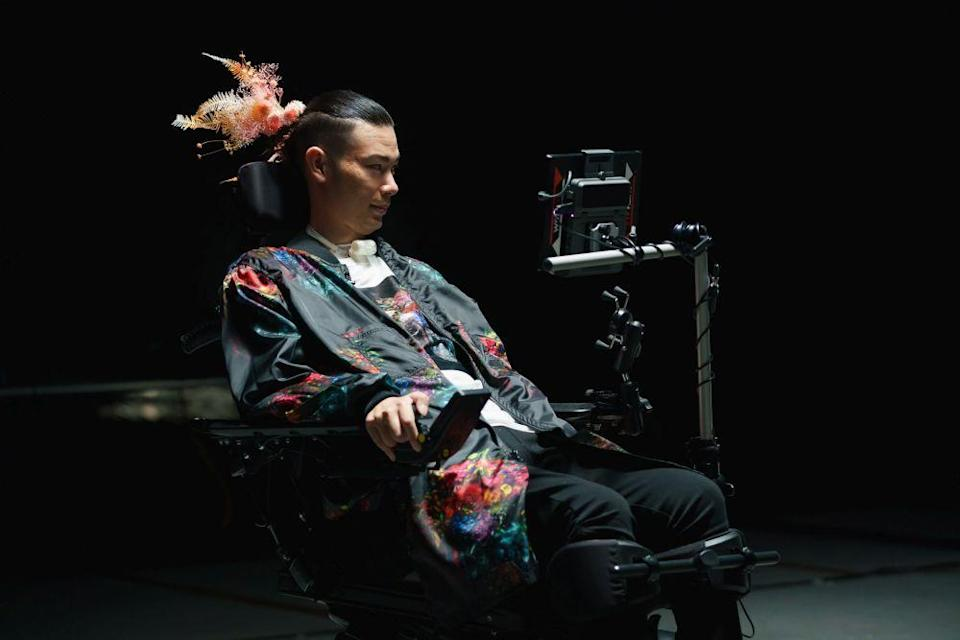 Muto lost the ability to button shirts when he was diagnosed with ALS in 2013. — Picture courtesy of True Colours Fashion