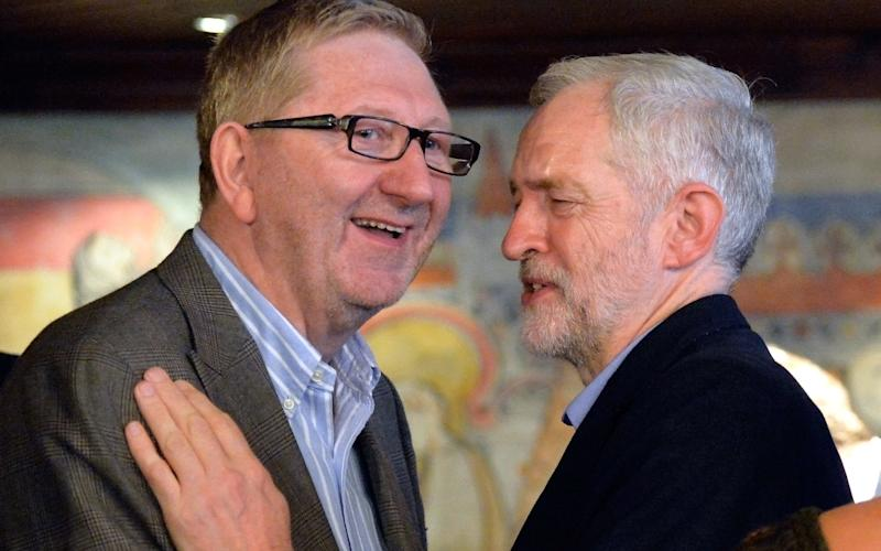 Trade union leader Len McCluskey and Jeremy Corbyn - Credit: David Dyson