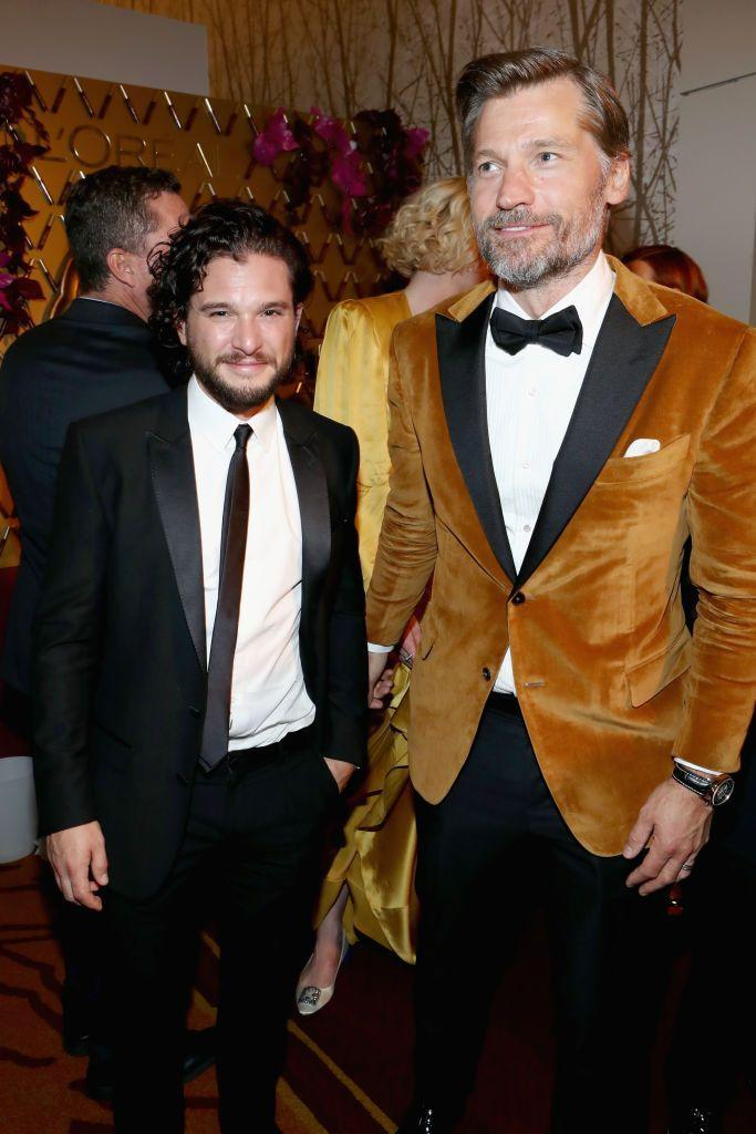 "<p>Standing next to Denmark's Nikolaj Coster-Waldau 6'2"" certainly doesn't help. Kit, however, is used to height jokes from his very tall costars. His hair helps him out.</p>"