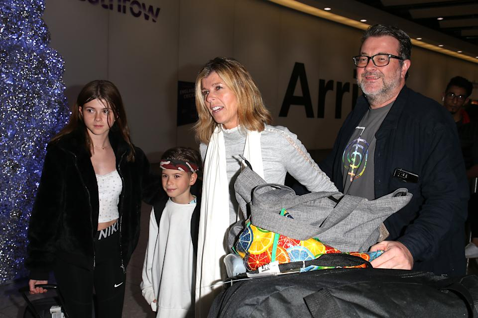 The couple (pictured with their children in 2019 after her stint on I'm A Celebrity) married in 2005. (Getty Images)