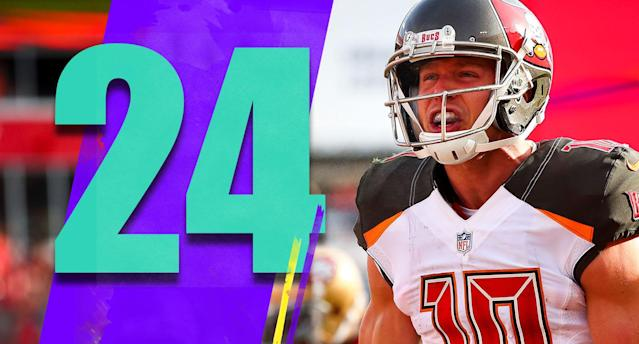 <p>Slot receiver Adam Humphries is becoming a reliable piece of the Bucs offense. Over the last four weeks he has four touchdowns, and has caught 19 of 22 targets. (Adam Humphries) </p>