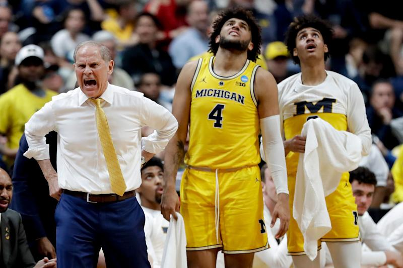 ddfa0fc4da8 Michigan coach John Beilein yells during the first half of the team s NCAA  men s college basketball