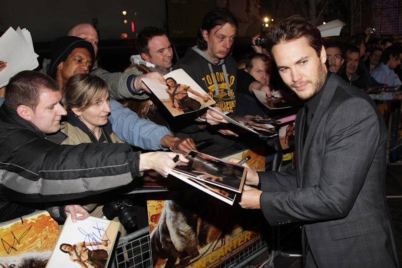 LONDON, ENGLAND - MARCH 01: Taylor Kitsch attends the UK premiere of John Carter at The BFI Southbank on March 1, 2012 in London, England. (Photo by Dave Hogan/Getty Images)