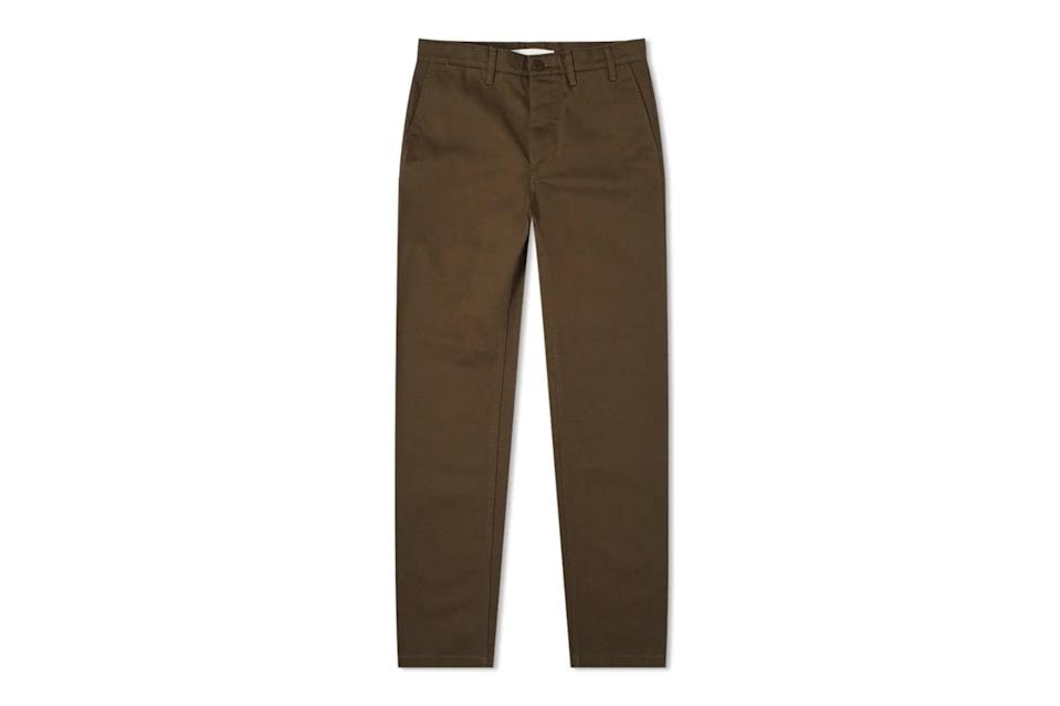 "$155, END.. <a href=""https://www.endclothing.com/us/norse-projects-aros-heavy-chino-n25-0240-8109.html"" rel=""nofollow noopener"" target=""_blank"" data-ylk=""slk:Get it now!"" class=""link rapid-noclick-resp"">Get it now!</a>"