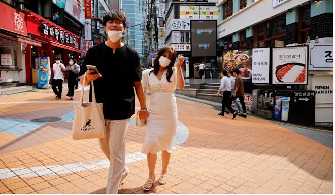 A second wave of infections emerged in South Korea in mid-August. Photo: Reuters