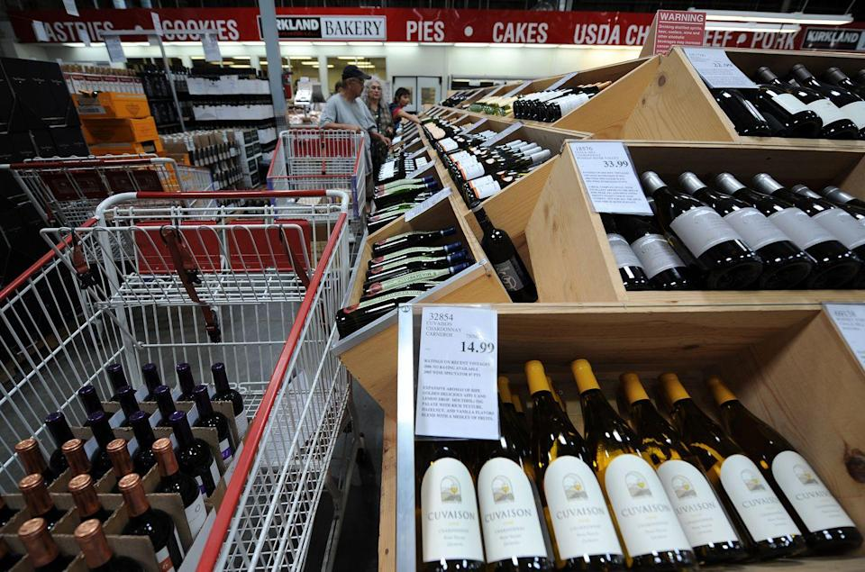 """<p>If you know your wine, Costco is a great place to scour the bins for a deal. While the store is often known for its Kirkland brand, people have found<a href=""""https://www.thekitchn.com/costco-wine-secrets-shopping-tips-262993"""" rel=""""nofollow noopener"""" target=""""_blank"""" data-ylk=""""slk:high-value bottles"""" class=""""link rapid-noclick-resp""""> high-value bottles</a> as well. Since the store tends to display wines of different years together, if you pay close attention to the vintages, you could wind up with an impressive bottle. </p>"""