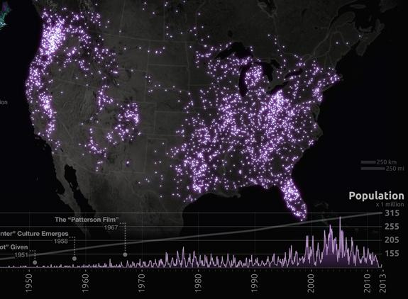 Looking for Bigfoot? New Map Shows Where to Search