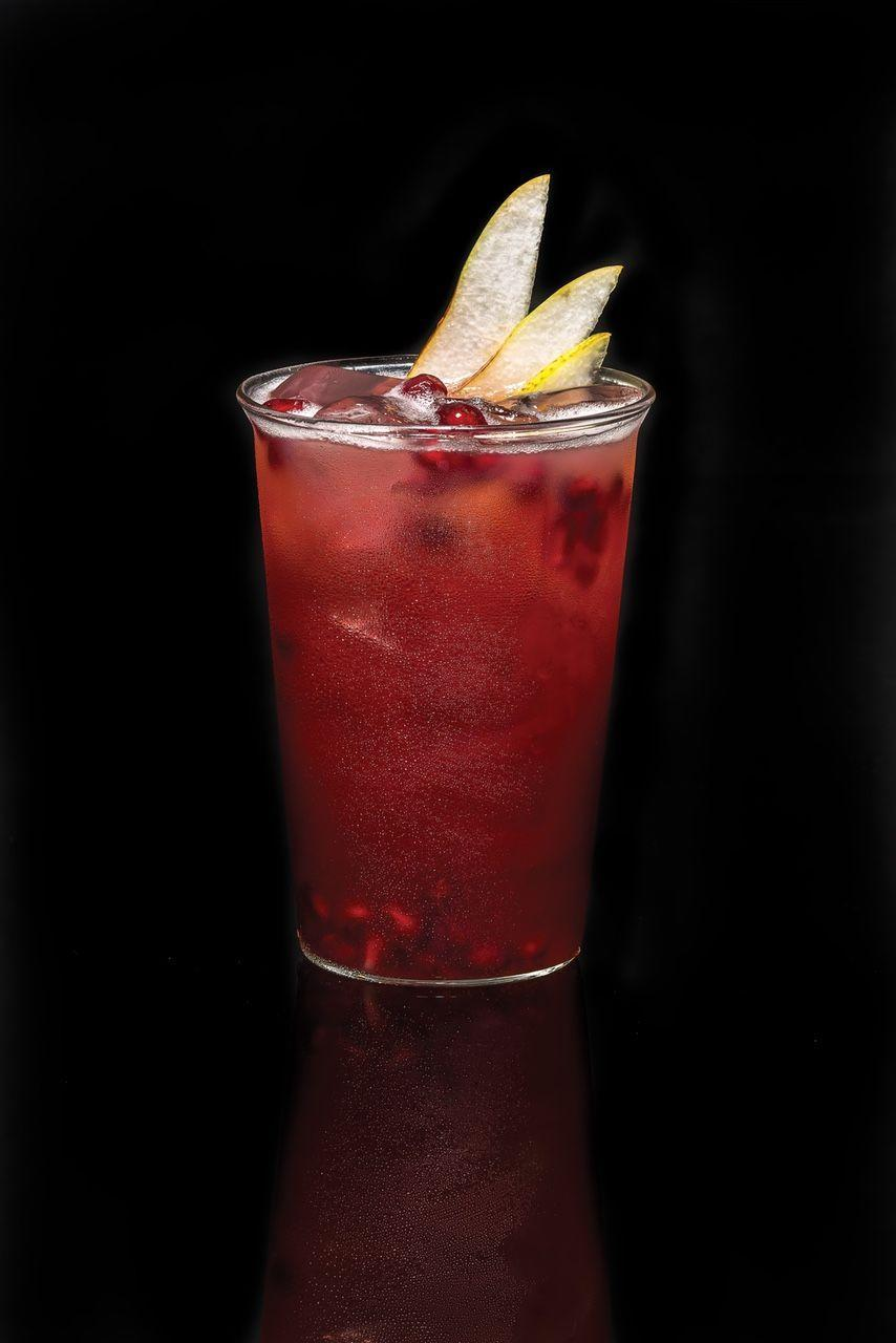 """<p>This pomegranate and pear juice rum drink goes down ever so easily. It's pretty enough for elegant dinner parties but so simple you can serve it on game night. </p><p><strong>Ingredients:</strong></p><p>1.5 oz <a href=""""https://go.redirectingat.com?id=74968X1596630&url=https%3A%2F%2Fdrizly.com%2Fliquor%2Frum%2Fwhite-rum%2Fcaptain-morgan-white-rum%2Fp5843%3Fis_autocomplete%3Dtrue&sref=https%3A%2F%2Fwww.oprahmag.com%2Flife%2Ffood%2Fg28099287%2Ffall-cocktails%2F"""" rel=""""nofollow noopener"""" target=""""_blank"""" data-ylk=""""slk:Captain Morgan White Rum"""" class=""""link rapid-noclick-resp"""">Captain Morgan White Rum</a><br>5 oz Pomegranate juice<br>0.5 oz Fresh lime juice<br>2 oz Pear Juice<br>Ginger ale</p><p><strong>Directions:</strong></p><p>In a cocktail shaker filled with ice, add rum, pomegranate juice, lime juice, and pear juice. Shake and strain into a highball glass filled with ice. Top with ginger ale. Garnish with pear slices and pomegranate seeds.</p>"""