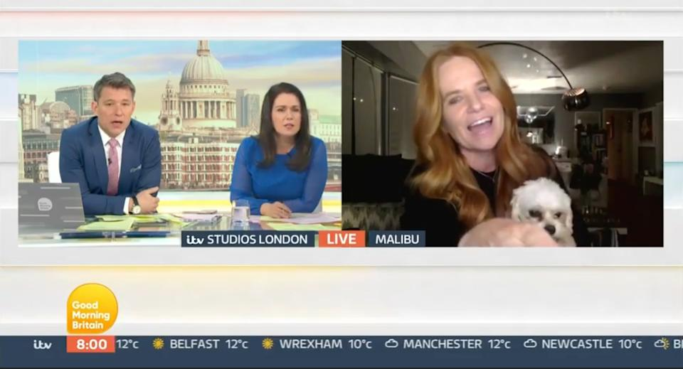 Patsy Palmer cut short an interview on Wednesday's GMB (Photo: ITV)