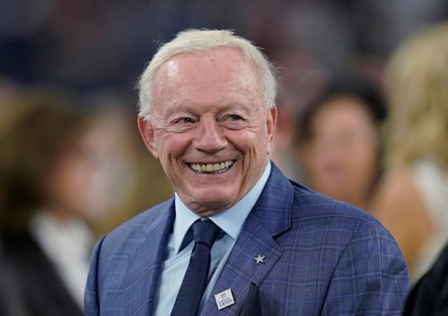 Jerry Jones doing ASMR made our top-5. No, really. (AP Photo)