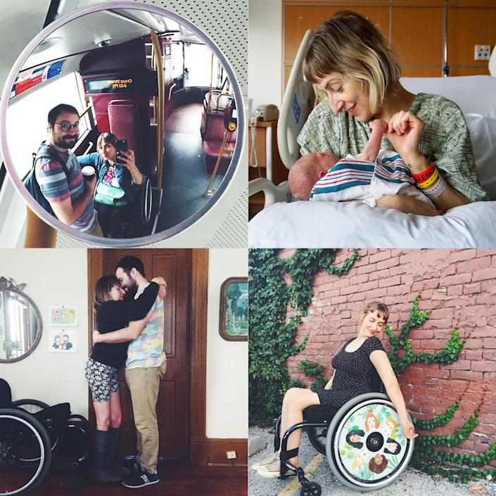 """Taussig shares photos and """"mini memoirs"""" narrating her life, which includes her husband Micah and new baby Otto, on Instagram<span class=""""copyright"""">Courtesy the author</span>"""