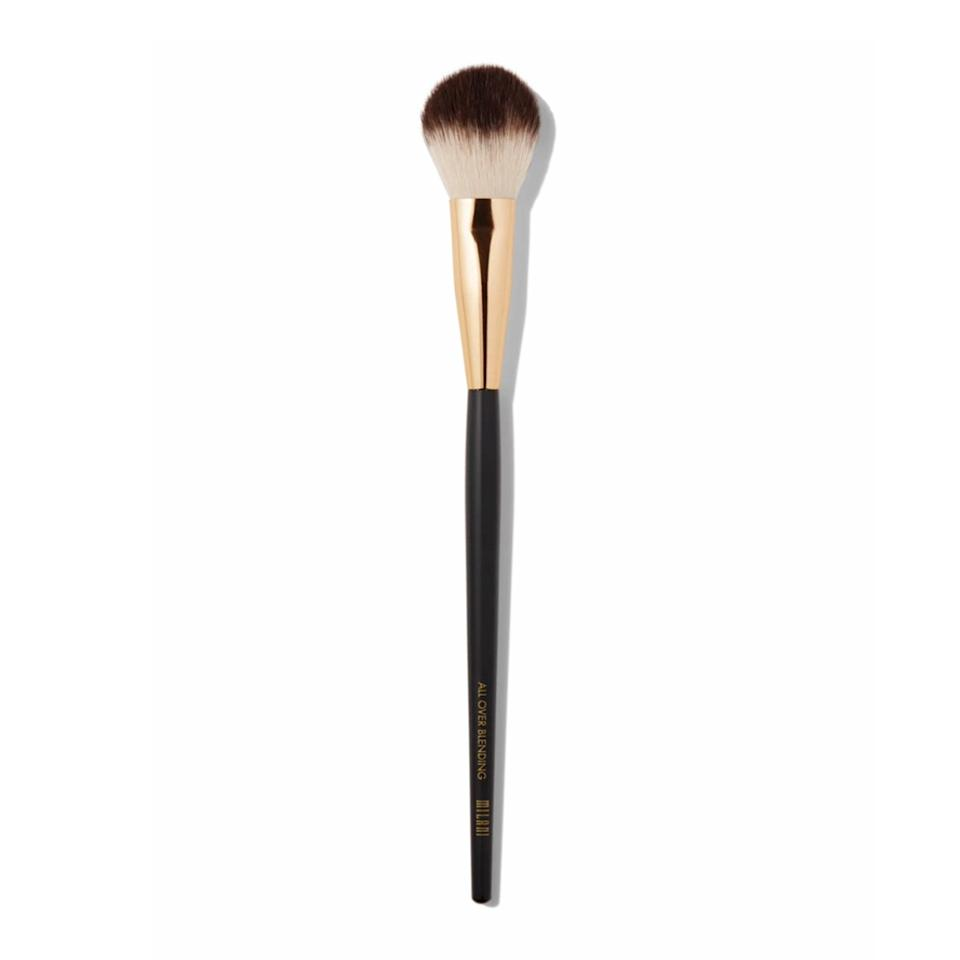 "<p>""Even though we're wearing masks, I'm still evening out my forehead with foundation. This little fluffy brush is perfect for precision application and blending. I love using the Milani Highlighter Blending Brush for cream products like bronzer and blush, too. My friend and fellow makeup artist <a href=""https://www.allure.com/story/winged-eyeliner-hooded-eyes-trick-katie-jane-hughes?mbid=synd_yahoo_rss"" rel=""nofollow noopener"" target=""_blank"" data-ylk=""slk:Katie Jane Hughes"" class=""link rapid-noclick-resp"">Katie Jane Hughes</a> convinced me to buy two, and I use them so much that I'm thinking of purchasing a third."" — <em>Kat Suico, assistant beauty editor</em></p> <p><strong>$9</strong> (<a href=""https://www.target.com/p/milani-all-over-blending-brush-1ct/-/A-75560839"" rel=""nofollow noopener"" target=""_blank"" data-ylk=""slk:Shop Now"" class=""link rapid-noclick-resp"">Shop Now</a>)</p>"